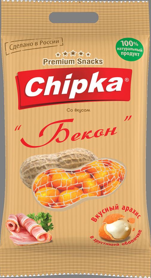 """Розничная упаковка арахиса в глазури""""Бекон"""", 40 гр"""